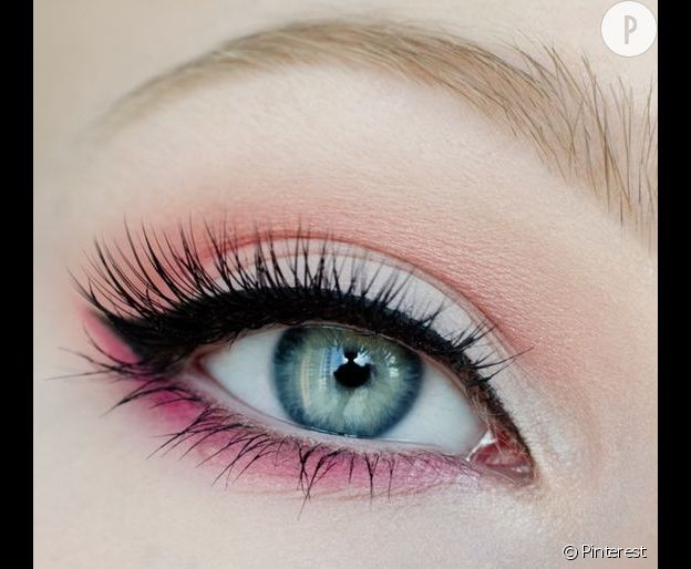 maquillage yeux rose. Black Bedroom Furniture Sets. Home Design Ideas