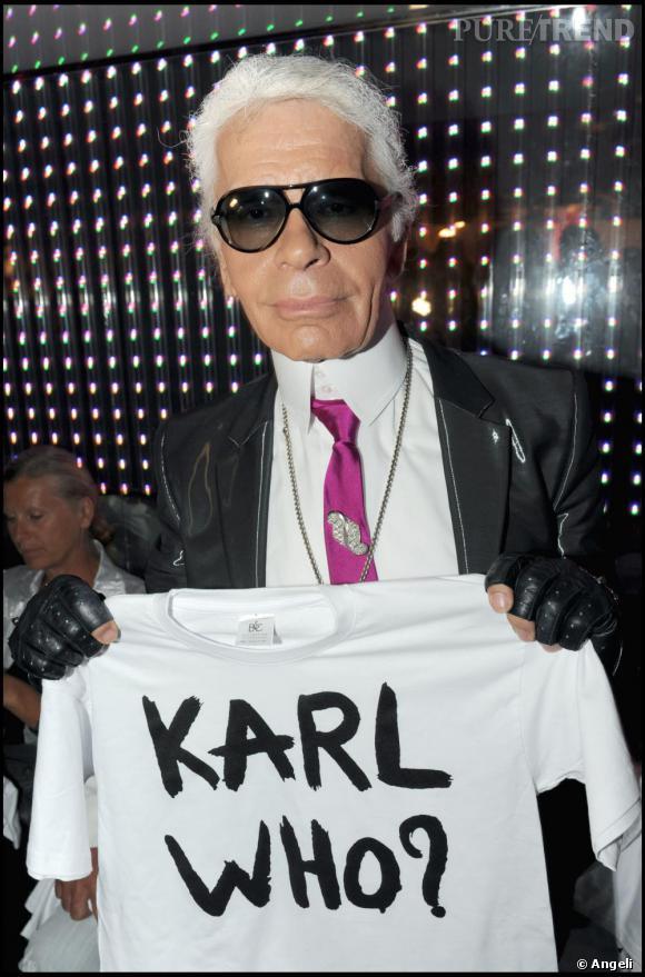 Karl Lagerfeld au VIP Room à Saint-Tropez