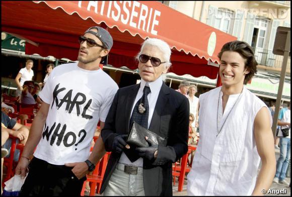 Karl Lagerfeld à Saint Tropez