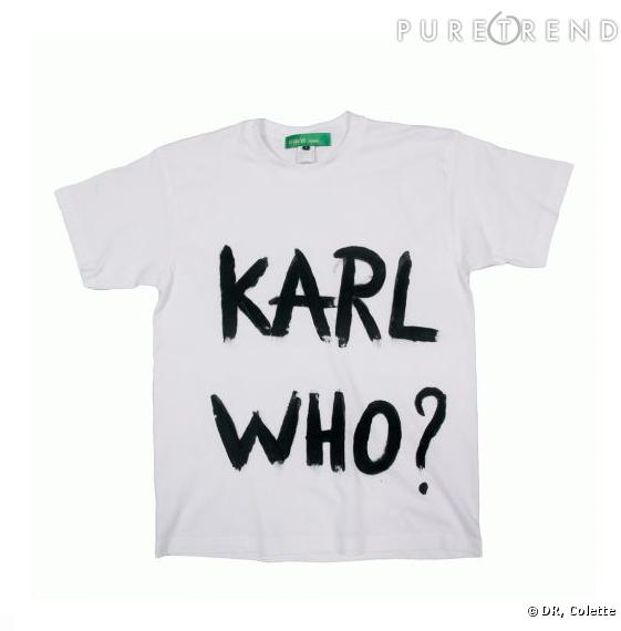 "T-shirt ""Karl Who ?""  par Naco Paris en noir"