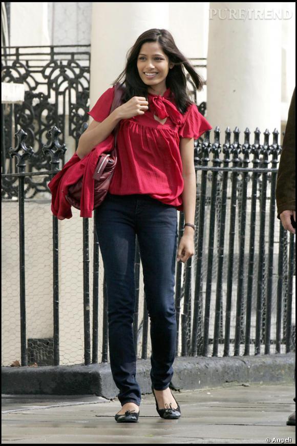Freida Pinto sur le tournage du nouveau Woody Allen