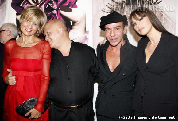 Tyen, avec le directeur artistique de la maison Dior , John Galliano et Monica Bellucci