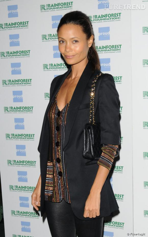 Thandie Newton à l'exposition People Of The Forest à Londres