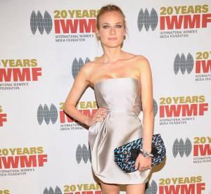 Diane Kruger, féline en robe de satin !