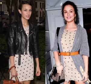 Leighton Meester vs. Alexa Chung : à qui va le mieux la robe à pois ?