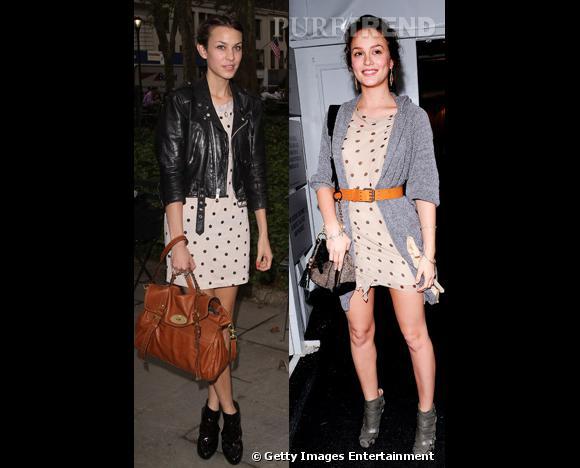 Match : qui de Leighton Meester et Alexa Chund porte le mieux la robe à pois ?