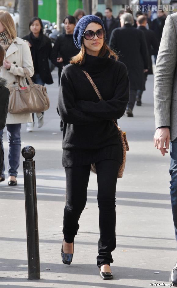 Jessica Alba lors d'une séance shopping à Paris