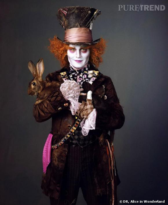 Johnny Depp dans Alice in Wonderland de Tim Burton