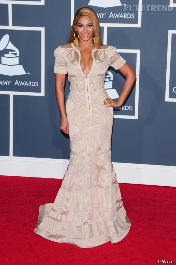 Beyoncé Knowles lors de la 52e cérémonie des Grammy Awards à Los Angeles