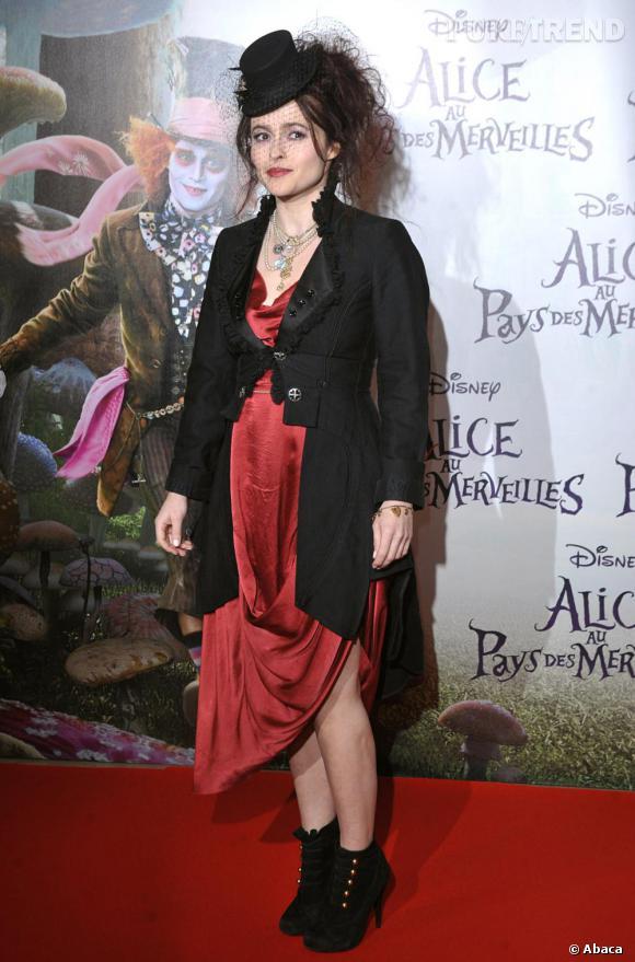 Helena Bonham Carter lors de la première du film Alice au Pays des Merveilles