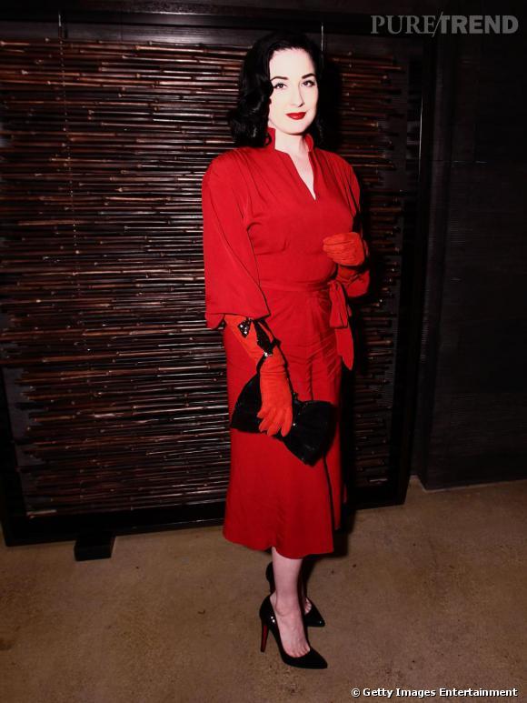 Dita von Teese lors d'une soirée à Los Angeles