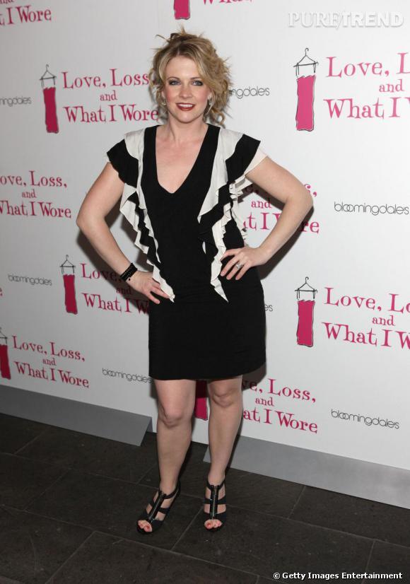 Melissa Joan Hart lors de la présentation du nouveau casting de la pièce Love, Loss, and What I Wore