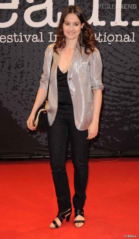 Marie Gillain à la cérémonie d'ouverture du festival de Beaune