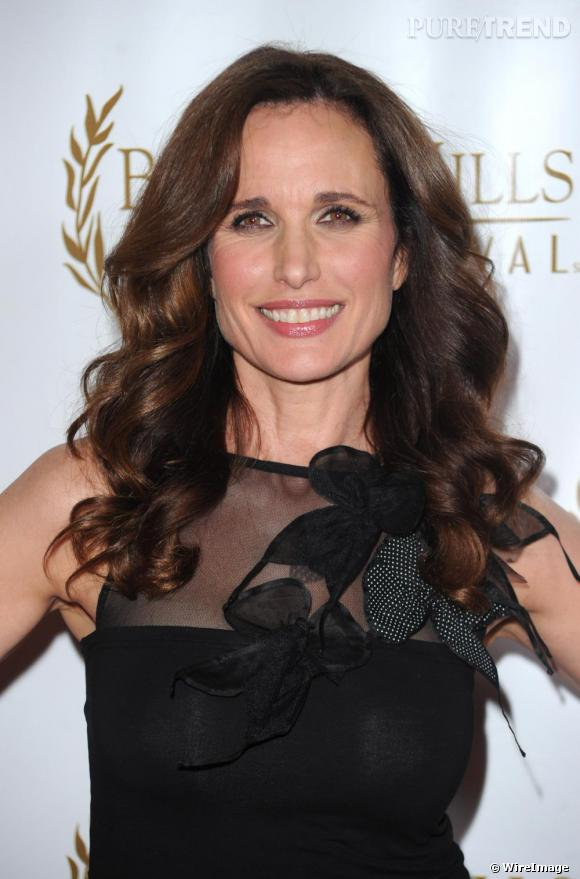 Andie MacDowell toujours éblouissante.
