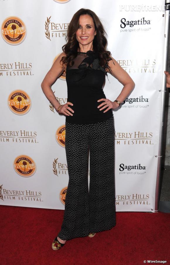 Andie MacDowell au Beverly Hills Film Festival en Californie.