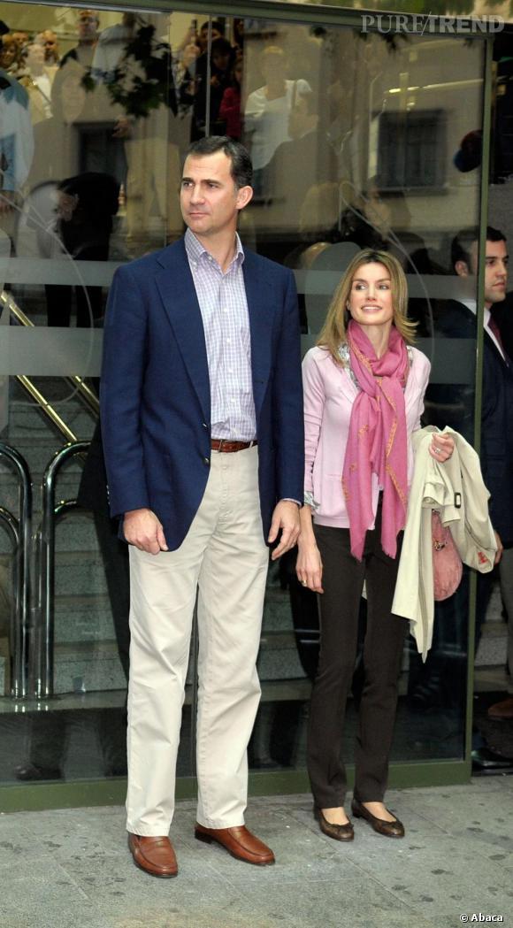 Letizia Ortiz aux côtés de son mari, le prince Felipe d'Espagne