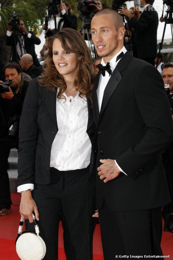 Laure Manaudou et son fiancé Frederick Bousquet sur le tapis rouge de Cannes