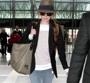 Rachel Bilson : un look 100% branché pour prendre l'avion, à shopper !