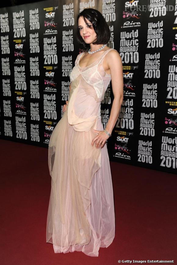 Asia avait opté pour une robe très romantique sur le tapis rouge