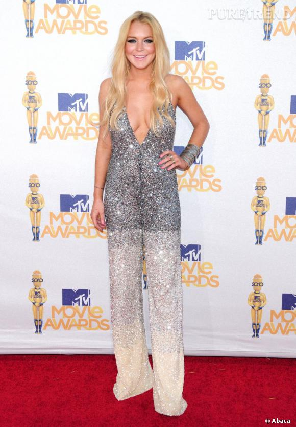 Lindsay Lohan, brille de mille feux aux MTV Movie Awards.