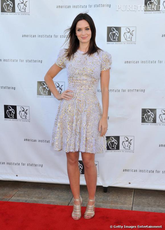 Emily Blunt en robe babydoll