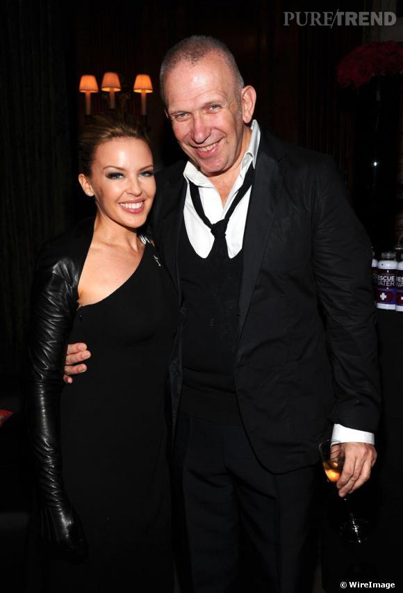 Kylie Minoque et Jean Paul Gaultier au gala de l'amfaR à New york, le 3 juin 2010