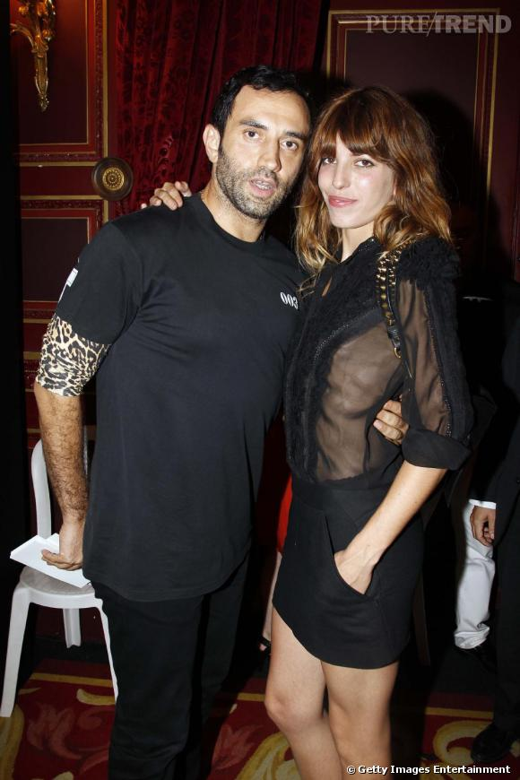 Le créateur Riccardo Tisci et Lou Doillon au défilé Givenchy