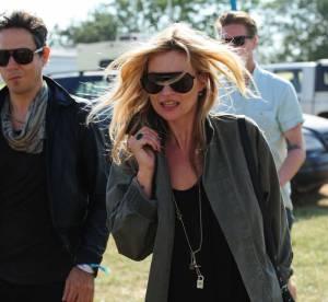 Kate Moss, une allure de rock'n'rolleuse... A shopper !