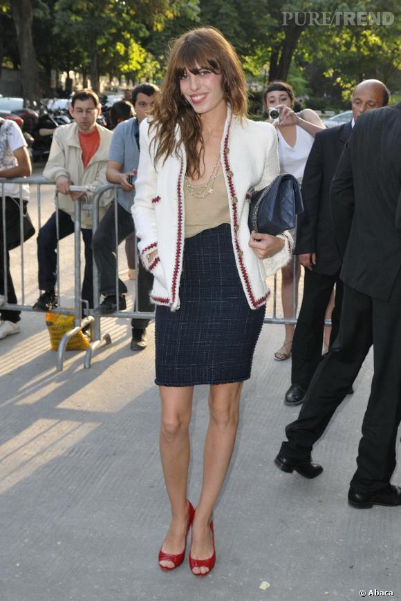 Lou Doillon au défilé Haute Couture Automne Hiver Chanel.