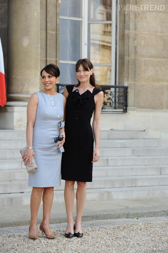 Carla Bruni reçoit les First Lady africaines à l'Elysée