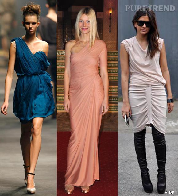tendance : la robe drapée