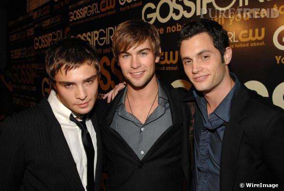 La dream team de Gossip Girl: Ed Westwick (Chuck Bass), Chace Crawford (Nate Archibald) et Penn Badgley (Dan Humphrey).