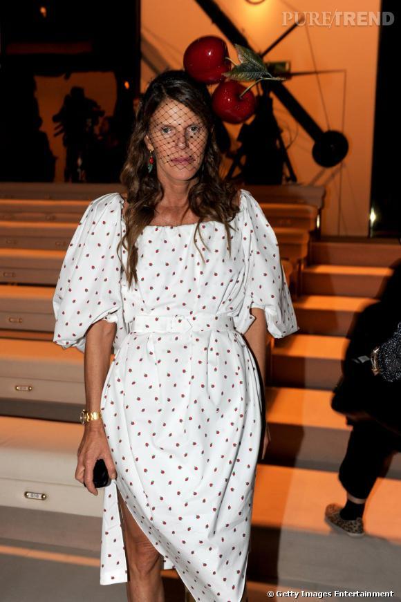 Anna Dello Russo au défilé Gucci lors de la Fashion Week de Milan.