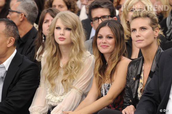 Taylor Swift, Rachel Bilson et Heidi Klum au défilé Roberto Cavalli