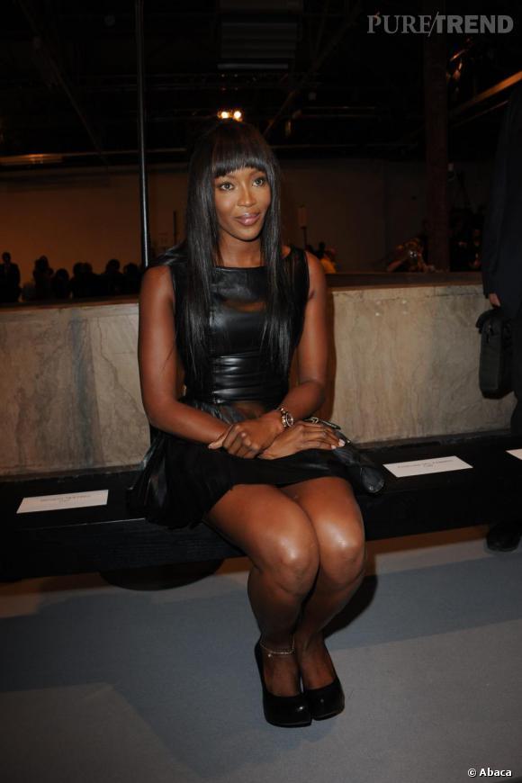 La sublime panthère Naomi Campbell au défilé Hakaan.
