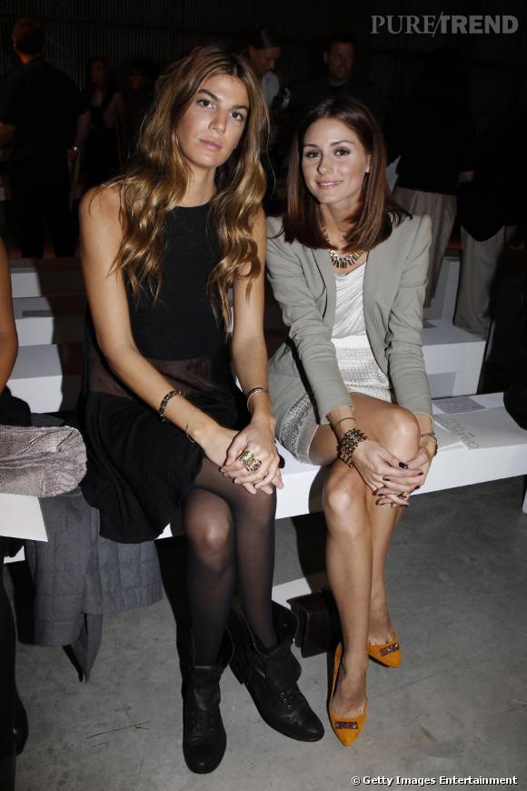 Bianca Brandolini D'adda et Olivia Palermo front row.