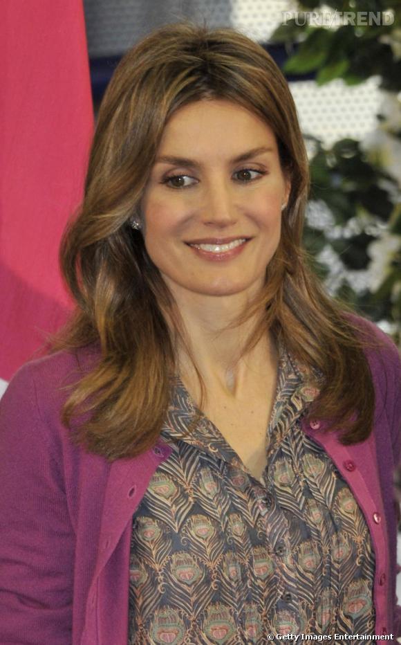 Letizia Ortiz en visite officielle en Espagne.