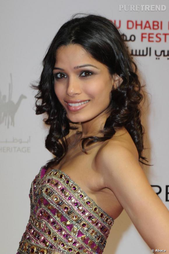 Freida Pinto lors de la projection de Miral au Festival du Film d'Abu Dhabi.