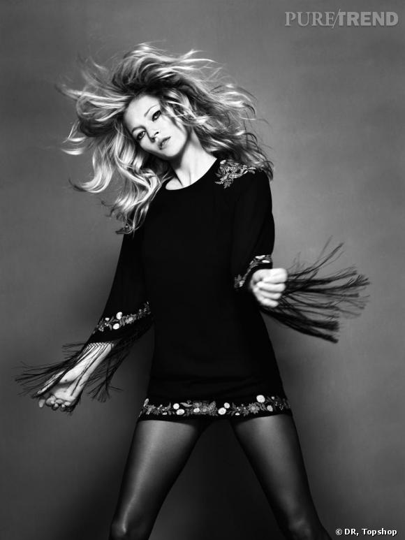 Campagne Kate Moss pour Topshop.