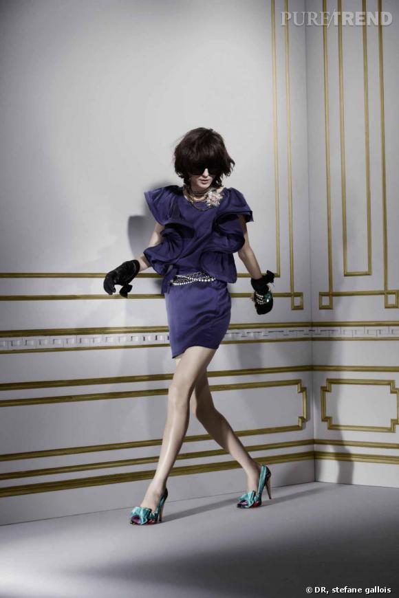 Lanvin pour H&M : le lookbook Robe, 149 euros. Ceinture, 49,95 euros. Collier, 49,95 euros. Bracelet, 29,95 euros. Gants en cuir, 39,95 euros. Escarpins, 99 euros. Lunettes, 19,95 euros.