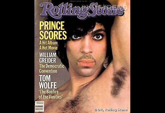 Prince en couverture du Rolling Stone de 1984.