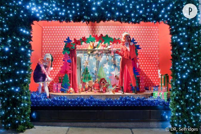 D cal le th tre de marionnettes et ses grosses ficelles for Schaufenster weihnachtsdeko
