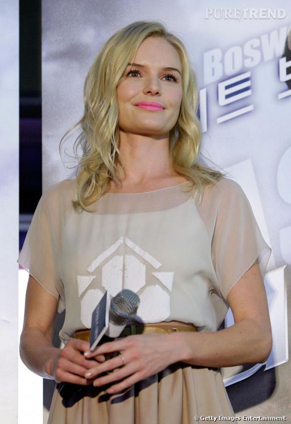Kate lors de la projection presse de son nouveau film  The Warrior's Way  à Séoul.