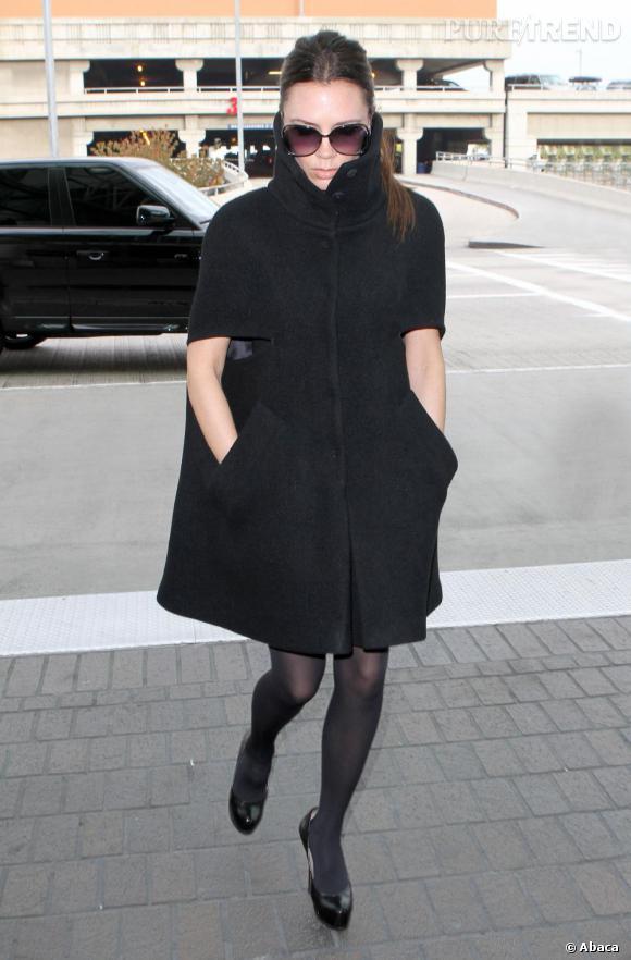 Victoria Beckham à l'aéroport de Los Angeles dimanche.