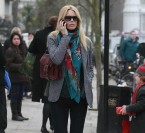 Claudia Schiffer, stylée et au chaud... A shopper !