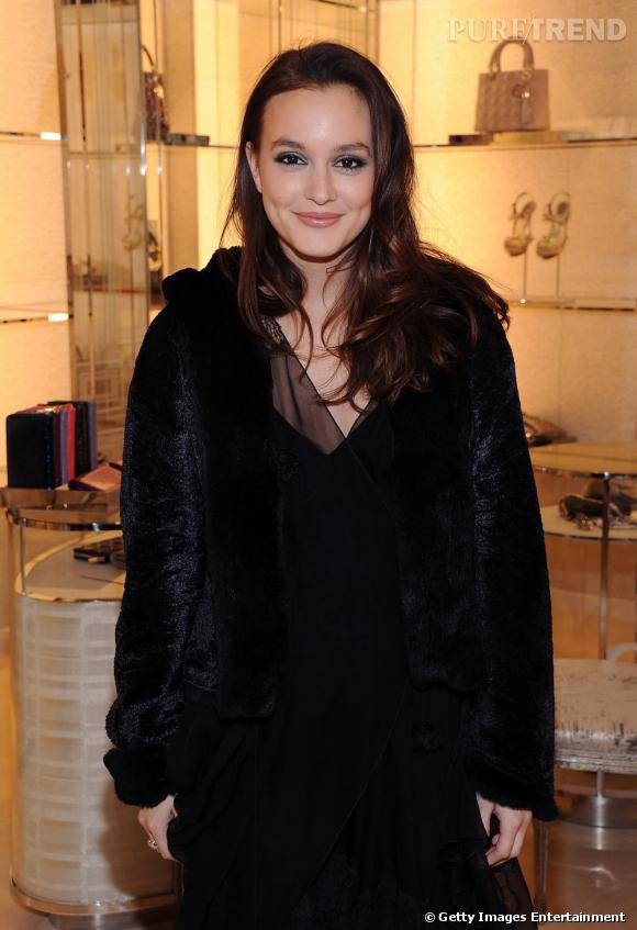 Leighton Meester, à la ré-ouverture de la boutique Christian Dior de New York.