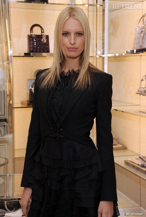 Karolina Kurkova à la réouverture de la boutique Dior à New York.