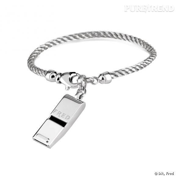 Bracelet Sifflet Whistle Charm de Fred.