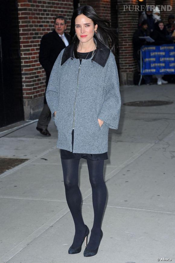 Jennifer Connelly chic et parée pour l'hiver.