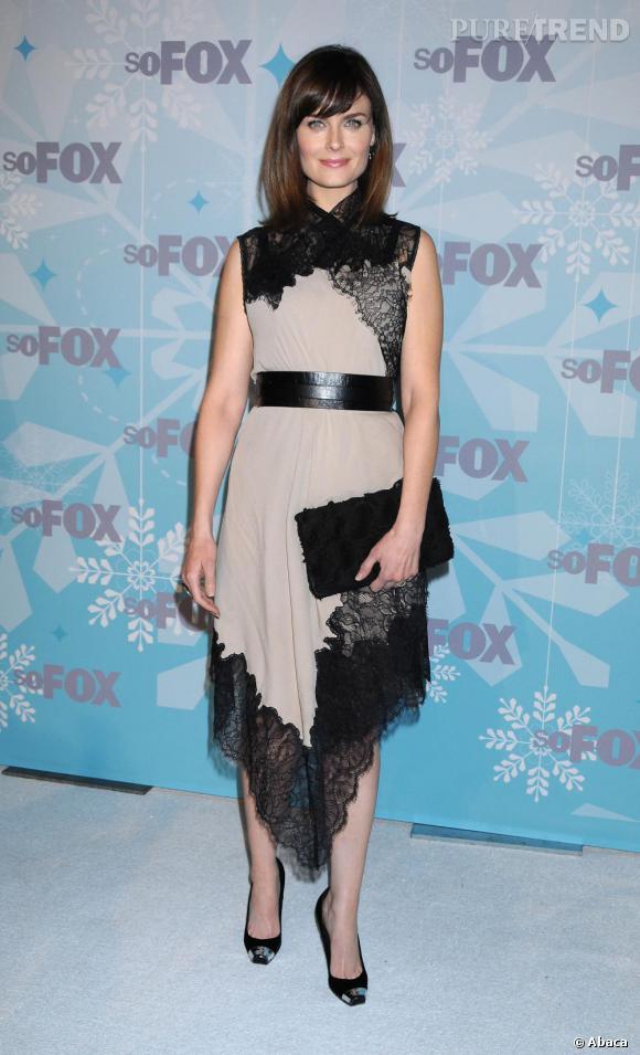 Emily Deschanel à la soirée Fox All-Star Winter à Los Angeles.